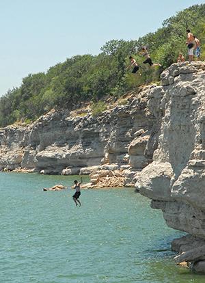 Cliff-Jumping-in-Lago-Vista-Texas