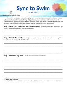 Download the Sync to Swim Worksheet
